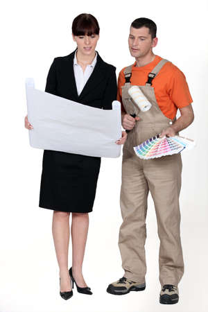 Architect and painter Stock Photo - 12529980