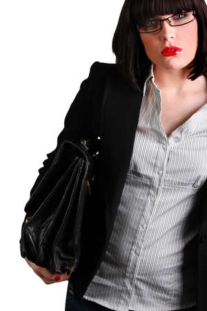 Foxy businesswoman with a briefcase Stock Photo - 12529609