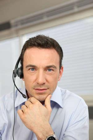 Operator working in help desk Stock Photo - 12529934