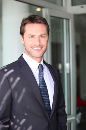 35 40 years: Businessman smiling Stock Photo