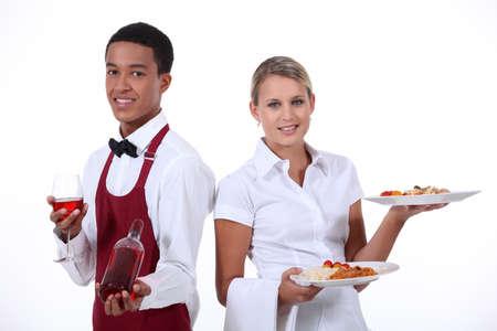alcohol server: A couple of waiter
