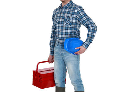 obrero: Un comerciante de llegar al trabajo