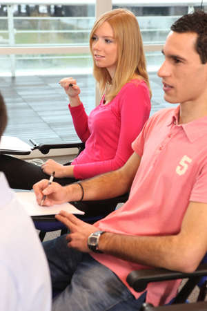 freshmen: Students in lecture
