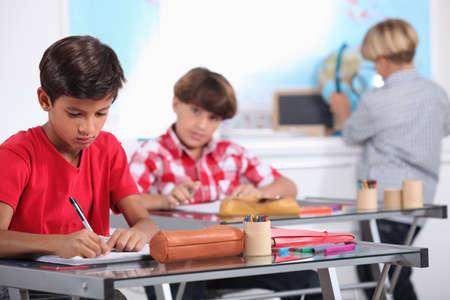 hardworking: pupils in class