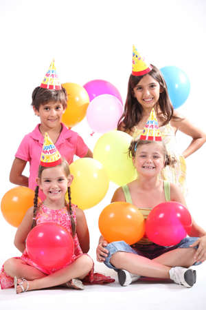 Children having a party photo