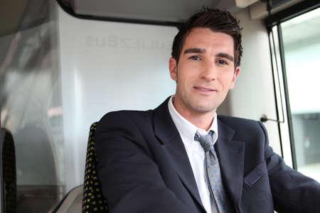 chofer de autobus: Conductor de autobús