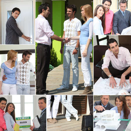 New home themed collage Stock Photo - 12529916