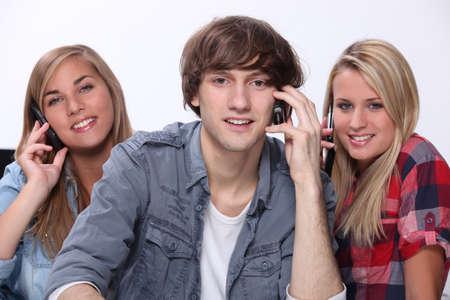 Teenagers on the phone photo