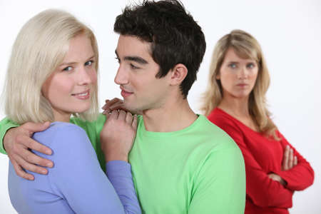 ex wife: love triangle Stock Photo