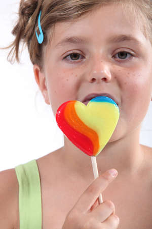 portrait of a girl with lollypop Stock Photo - 12529858