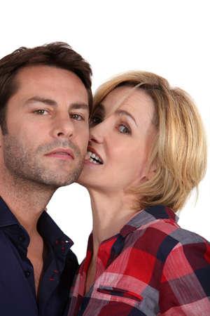 biting: Playful couple