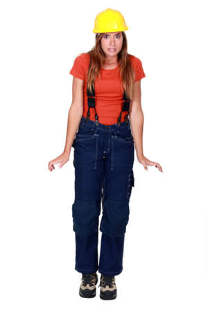 yourselfer: Handywoman in overalls