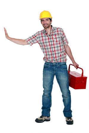 Craftsman with tool box Stock Photo - 12530023