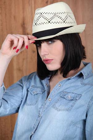 bewitch: Woman wearing a Panama hat