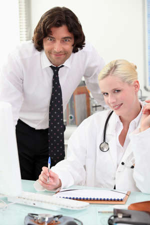 Make and female doctors Stock Photo - 12529899
