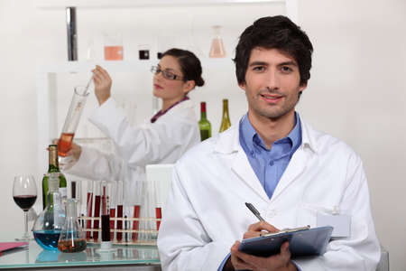 A couple in a laboratory  Stock Photo - 12529691