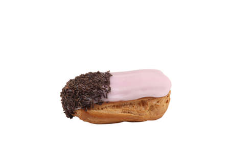 cream puff: Eclair covered in icing