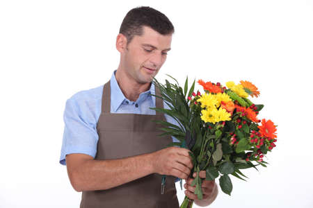Male florist photo