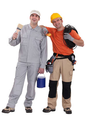 Friendly tradesmen photo