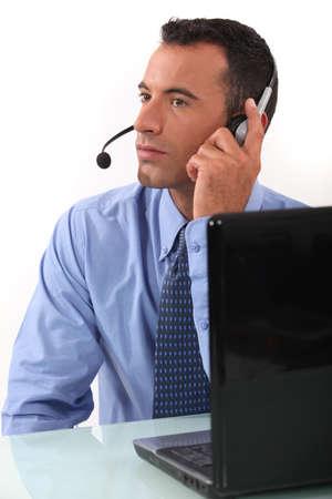 Phone operator Stock Photo - 13343915