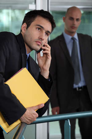 supported: Mobile Executive supported rail Stock Photo