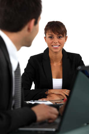 Woman in job interview Stock Photo - 13344261