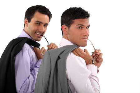Two men with glasses Stock Photo - 13343956