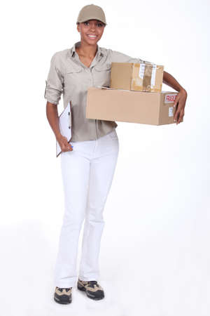 Delivery woman photo
