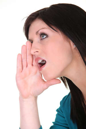 Woman hollering Stock Photo - 13343914