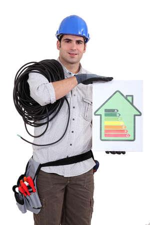eficiencia energetica: Comerciante la celebraci�n de una tabla de clasificaci�n de la eficiencia energ�tica