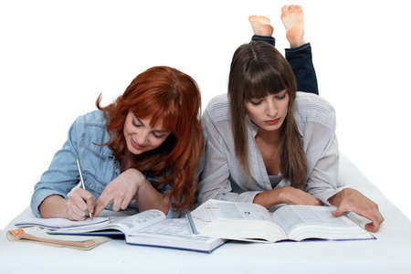 female students working together Stock Photo - 13343935