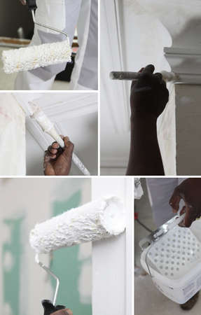 white trim: Montage of decorating