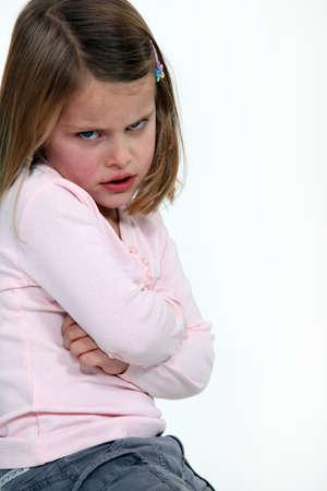 cranky: Child having a temper tantrum
