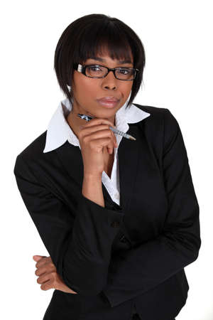 An African American businesswoman  photo