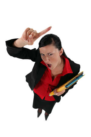 animosity: angry businesswoman shouting