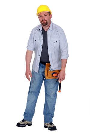 A tired tradesman