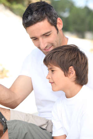 Father and son on a fishing trip  Stock Photo - 13343911