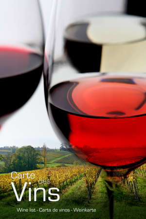 carte: Wine menu Stock Photo