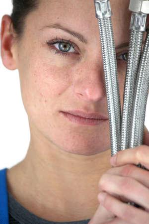 Female plumber Stock Photo - 13375503