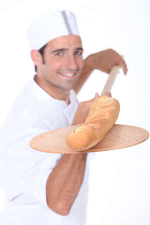 baker baking bread photo