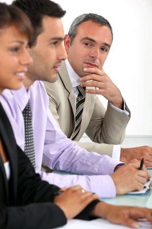 Businessman during meeting photo