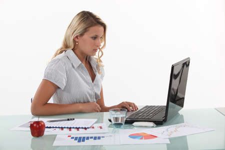 Woman working in marketing photo