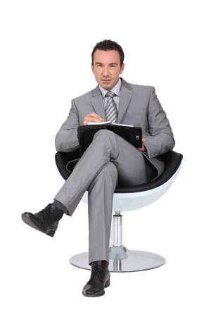 the managing: businessman Stock Photo