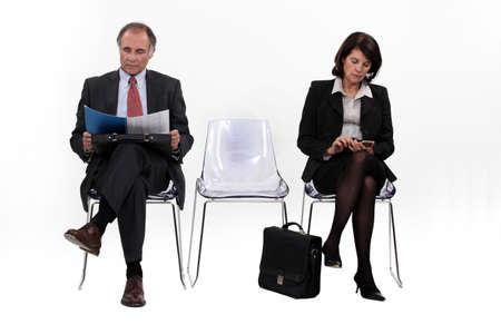 Businesspeople waiting photo