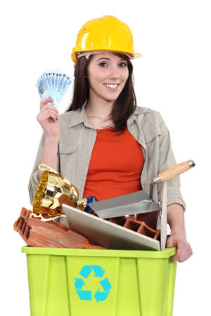 worthless: Woman making money by recycling