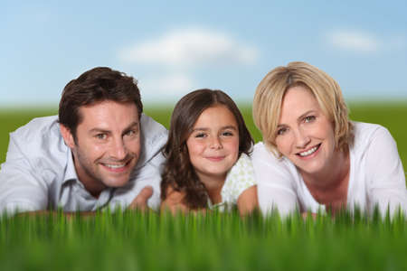 fortysomething: smiling couple and daughter