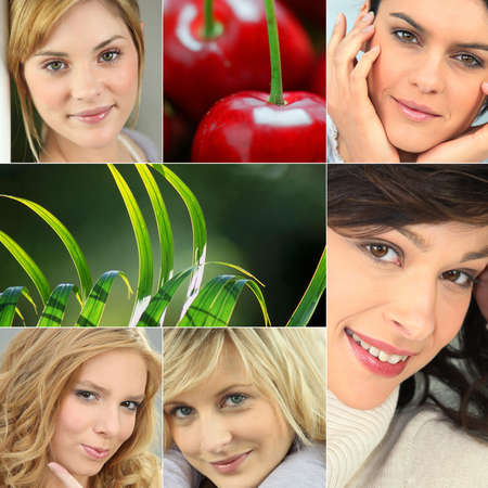 A collage of healthy-looking young women Stock Photo - 13380018