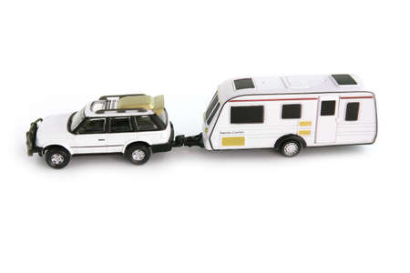 Caravan attached to 4x4 Stock fotó - 13377137