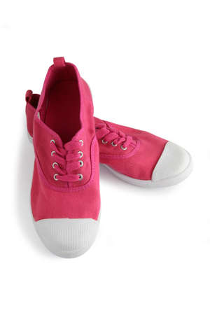 foot gear: Pink tennis shoes