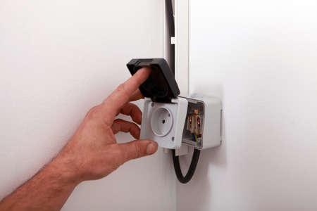 wall socket: wall socket Stock Photo
